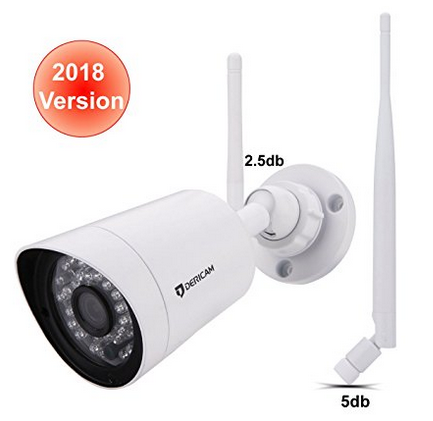 Dericam 1080P Wireless Outdoor Security Camera with Crystal Glass 3MP HD Lens, Full HD 1080P@30FPS,