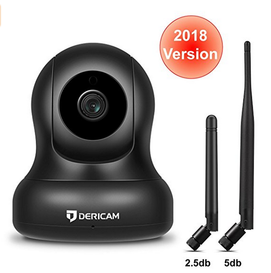 1080P Home Wireless Security Camera, Pan/Tilt Control, 4x Digital Zoom, Night Vision and Two-Way Tal
